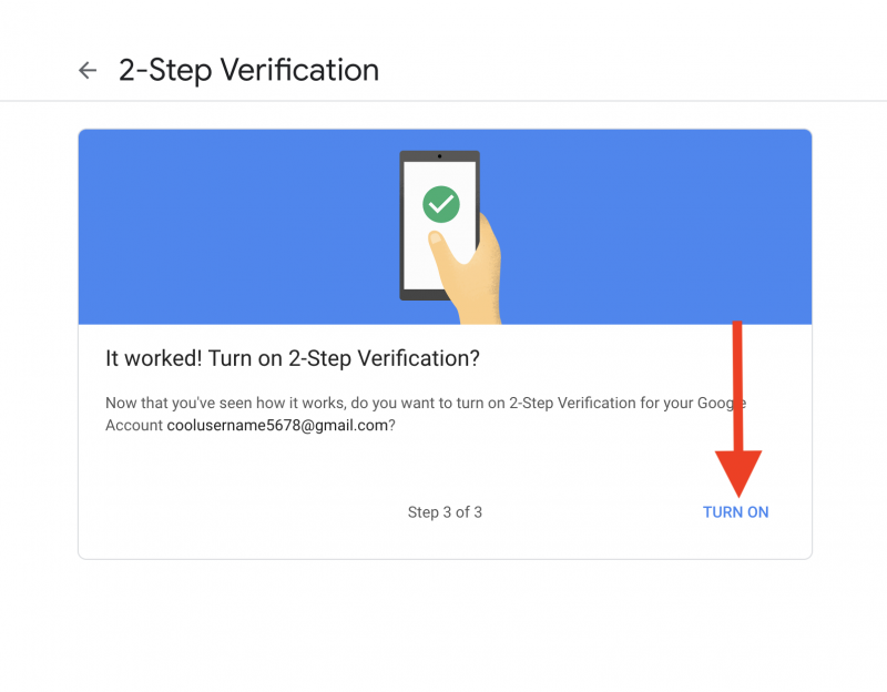 2 Step Verification 3